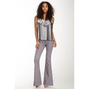 HUDSON Jeans Ferris Flap Flare Leg Linen | Size 26